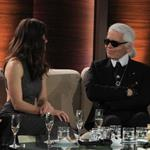 Karl Lagerfeld and Jessica Biel on Wetten Dass in Germany  99880