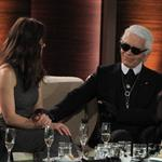 Karl Lagerfeld and Jessica Biel on Wetten Dass in Germany  99881