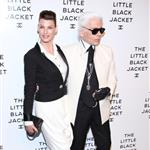 Linda Evangelista and Karl Lagerfeld at Chanel's The Little Black Jacket Event 116824