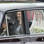 Catherine Middleton with her father Michael Middleton as they arrive for the Royal Wedding  84057