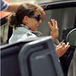 Katie Holmes says goodbye to Tom Cruise and friends after celebrating his 49th birthday in Miami  89146