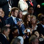 IOC president Jacques Rogge, Prince Harry and Catherine, Duchess of Cambridge look on during the Closing Ceremony on Day 16 of the London 2012 Olympic Games 123161
