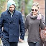 Kate Hudson and Matt Bellamy walking in Primrose Hill London, England 108590