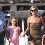 Kate Moss with her daughter Lila Grace on holiday in St Tropez 123689