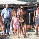Kate Moss with her daughter Lila Grace on holiday in St Tropez 123691