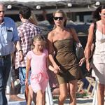 Kate Moss with her daughter Lila Grace on holiday in St Tropez 123693