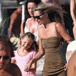 Kate Moss with her daughter Lila Grace on holiday in St Tropez 123694