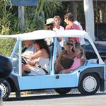 Kate Moss with her daughter Lila Grace on holiday in St Tropez 123695