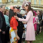 Catherine, Duchess of Cambridge at a garden party at Buckingham Palace 115896