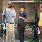 Katie Holmes shooting scenes with Jonny Lee Miller 22684