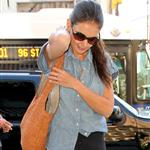 Katie Holmes out in New York two days ago wearing her wedding band 119377