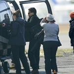 Connor Cruise boards a helicopter in Iceland where Tom Cruise is shooting his latest movie  119386