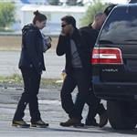Connor Cruise boards a helicopter in Iceland where Tom Cruise is shooting his latest movie  119388
