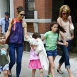 Katie Holmes out with Suri and friends in New York 119857