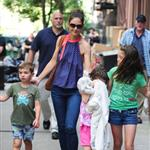 Katie Holmes out with Suri and friends in New York 119858