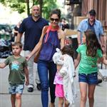 Katie Holmes out with Suri and friends in New York 119860