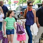Katie Holmes out with Suri and friends in New York 119870