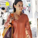 Katie Holmes out shopping in New York today 119876
