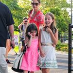 Katie Holmes takes daughter Suri Cruise to gym class with a friend in New York City 120522