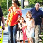 Katie Holmes takes daughter Suri Cruise to gym class with a friend in New York City 120524