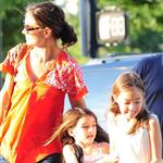 Katie Holmes takes daughter Suri Cruise to gym class with a friend in New York City 120525