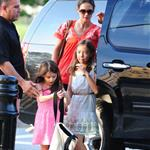 Katie Holmes takes daughter Suri Cruise to gym class with a friend in New York City 120530