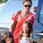 Katie Holmes takes daughter Suri Cruise to gym class with a friend in New York City 120531