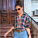 Katie Holmes out in New York in high waisted jeans  63758