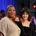 "Katie Holmes presents Queen Latifah with her Golden Globe on BET""s 106 & Park 16389"