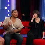 "Katie Holmes presents Queen Latifah with her Golden Globe on BET""s 106 & Park 16391"