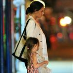 Katie Holmes and Suri Cruise seen going for dinner at Nobu Restaurant 122713
