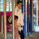 Katie Holmes and Suri Cruise seen going for dinner at Nobu Restaurant 122716