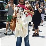 Katie Holmes out shopping for groceries with Suri in NYC 119967