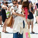 Katie Holmes out shopping for groceries with Suri in NYC 119970