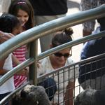 Katie Holmes and her mother Kathleen take Suri to the Central Park Zoo 120374
