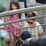 Katie Holmes and her mother Kathleen take Suri to the Central Park Zoo 120379