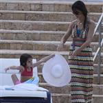 Katie Holmes with Suri by the pool in Miami  85555