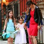 Katie Holmes and Suri Cruise go to see The Odd Life of Timothy Green with her publicist Leslie Sloane and daughter at Lowes Lincoln Square in NYC 123800