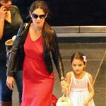 Katie Holmes and Suri Cruise go to see The Odd Life of Timothy Green with her publicist Leslie Sloane and daughter at Lowes Lincoln Square in NYC 123802