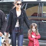 Katie Holmes and Suri at Granville Island in Vancouver and Vera Burger 80770