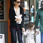 Katie Holmes and Suri at Granville Island in Vancouver and Vera Burger 80786