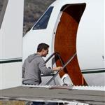 Tom Cruise boards a flight with his son Connor in Mammoth Lakes, California  120624