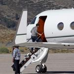 Tom Cruise boards a flight with his son Connor in Mammoth Lakes, California  120626