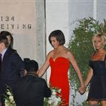 Victoria Beckham and Katie Holmes go to a party in LA, July 2007 124130