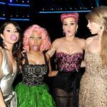 Selena Gomez, Nicki Minaj, Katy Perry and Taylor Swift backstage at the 2011 American Music Awards 98803