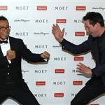 Keanu Reeves and Donnie Yen at the Power of Film Gala at the Grand Hyatt Hong Kong's Grand Ballroom 109316