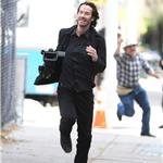 Keanu Reeves films Generation Um running scene in New York 70330