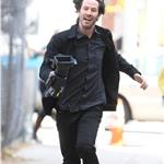 Keanu Reeves films Generation Um running scene in New York 70331