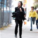 Keanu Reeves films Generation Um running scene in New York 70332