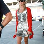 Stacey Keibler arrives on a flight at LAX  91301